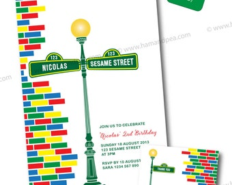 Sesame Street Inspired Invitation Package DIY Printable