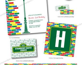 Sesame Street Inspired Design (complete party package) DIY Printable