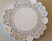 "50 French Lace Round Paper Doilies - 6 inch white doily - 6"" Small"