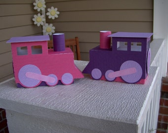 Girly Train Favor Box Set of 10 with Free Shipping