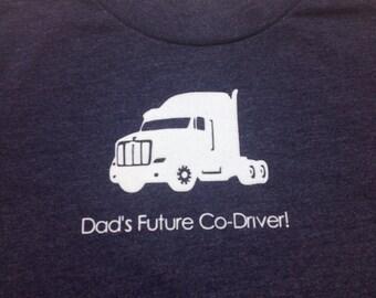 Dad's Future Co-driver shirt boys XS 4/5