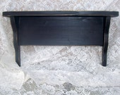 primitive black shelf shabby chic hand rubbed