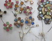 "Vintage Swarovski ""Mixed Bouquet ""  Crystal Flowers"