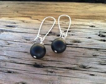 Charcoal Earrings