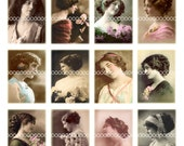 Digital Clipart, instant download, Vintage Ladies--Vintage Images Women, sepia photography--Digital Collage Sheet (8.5 by 11 inches)  609