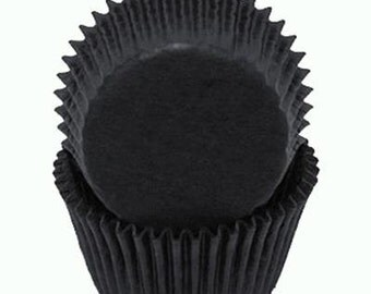Black Glassine Baking Cups
