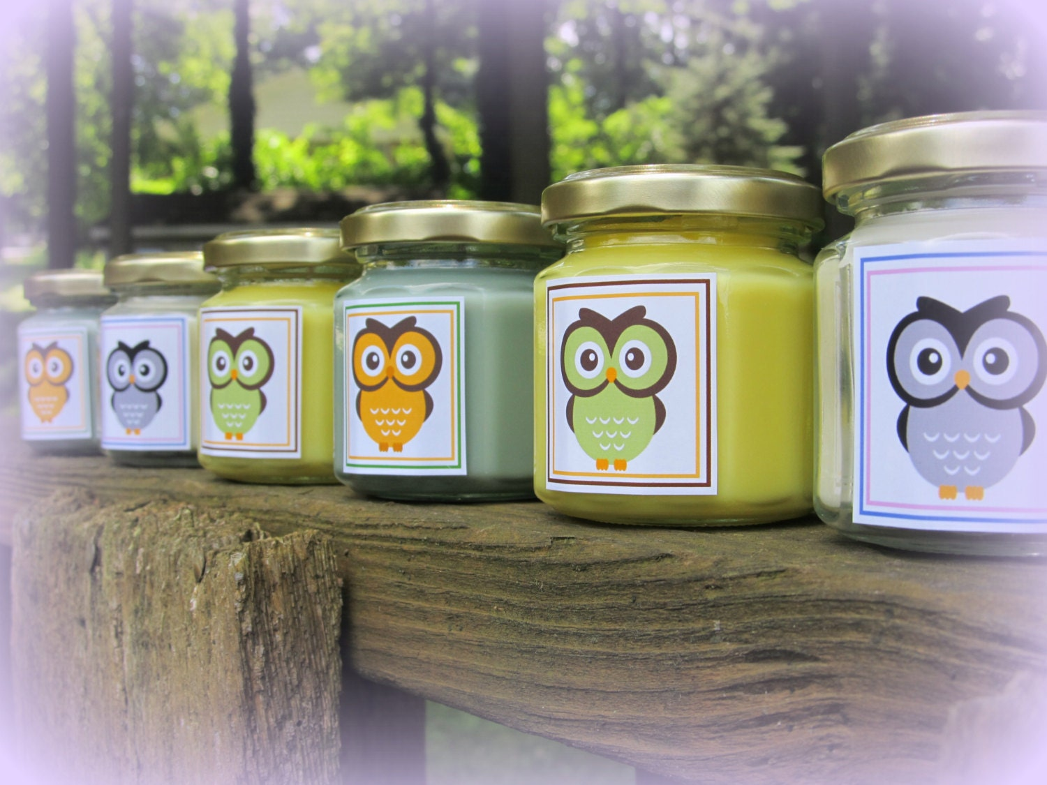 Baby Shower Favors Candles ~ Owl baby shower favor candle themed yellow