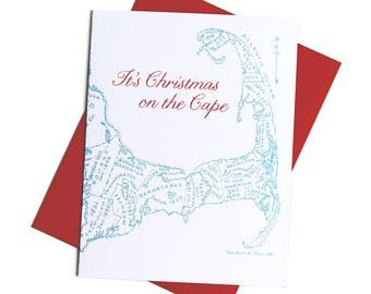Cape Cod Christmas Cards, Boxed Set of 8 Cards