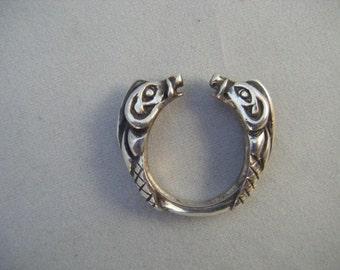 Celtic Boar Ring Sterling Silver