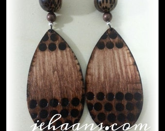 Chocolate Drops spotted Tribe Earrings