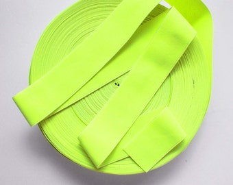"2"" Neon Yellow Stretch Elastic Band"