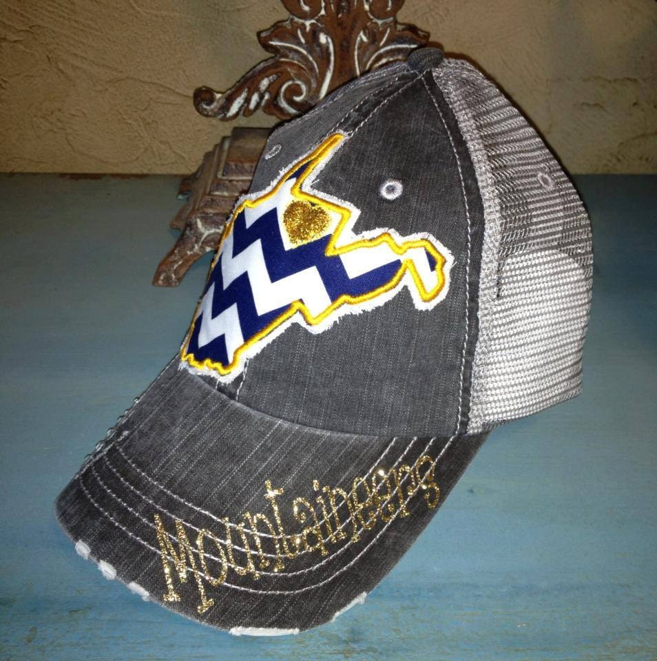 west virginia mountaineers wvu state baseball bling by