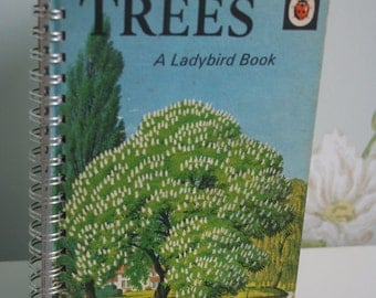 Ladybird book Trees notebook recycled from a vintage book