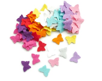 Multicolor fabric butterflies felt shapes Size 1.5cm arts and crafts wedding confetti