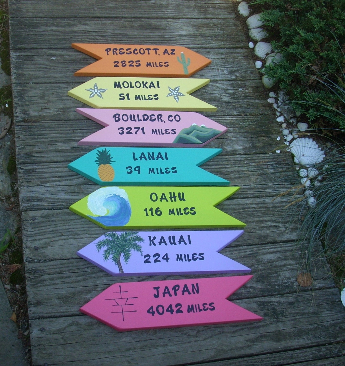 personalized wooden signs set of 7 custom signs directional