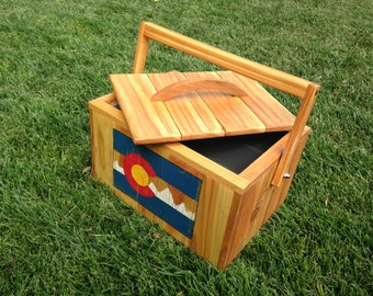 Beer Cooler with Colorado Flag