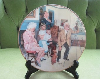 Michael Hagel Family Portrait Collector Plate with Original Box