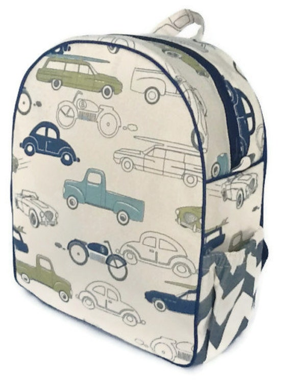 One of COOL MOM PICKS Best Preschool Backpacks 2013, Toddler Backpack, Boys Backpack, Quilted Backpack, Cars Backpack,  Retro Rides Backpack