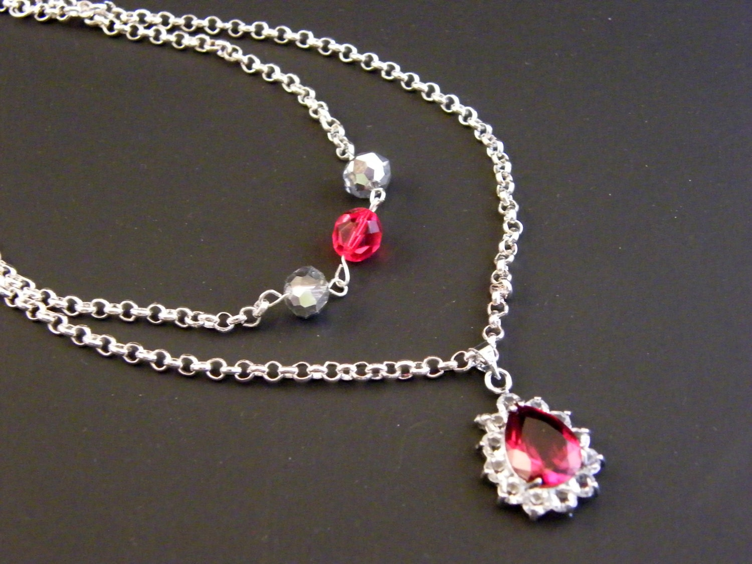 isabelle lightwood ruby color pendant silver necklace the