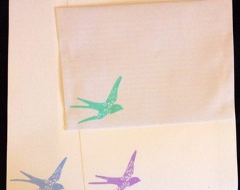 Patterned Bird/Dove Letter/ Writing Set