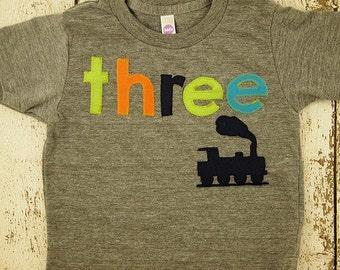 Train Shirt Birthday Tee Organic Blend Black Shirt Train Birthday Vintage train choo choo steam train