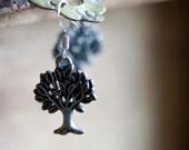 Tree Earrings Antiqued Silver Tree Pendant Sterling Silver Earrings Tree Of Life Jewelry - E086