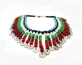 Tribal Ethnic Boho Chic Statement Necklace