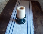 Small Striped Table Runner - Burlap Table Runner - Choose Width and Colors - Grain Sack Table Runner - French Country Decor - Rustic Runner