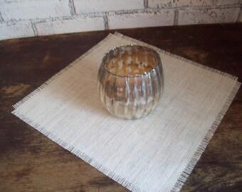 Burlap Table Square - 18 x 18 - 20 x 20 - Wedding Table Square - Small Table Square - Table Topper - Rustic Wedding Decor