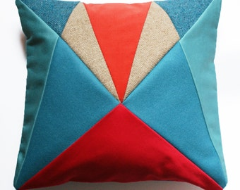 Tutti Frutti AU 'After Upholstery' patchwork cushion