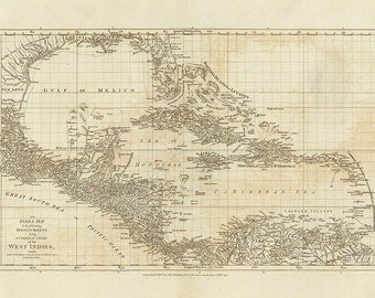 1775 Map of The Caribbean