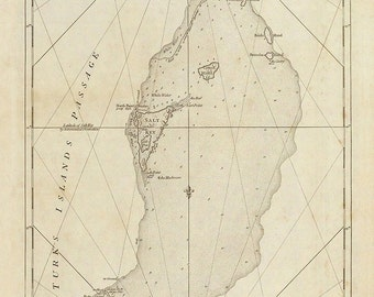 1775 Chart of Turks and Caicos