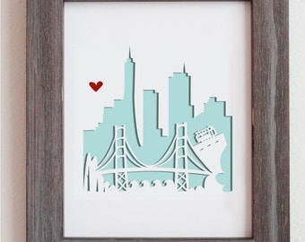 San Francisco, CA.  Personalized Gift or Wedding Gift