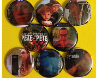 "8 Brand New 1"" ""Pete & Pete"" Button Set"