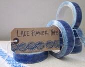 Sale -Blue Lace Tape - washi tape - blue tape - decorative tape - pretty sticky tape - tape - cute washi tape - SALE - lace tape