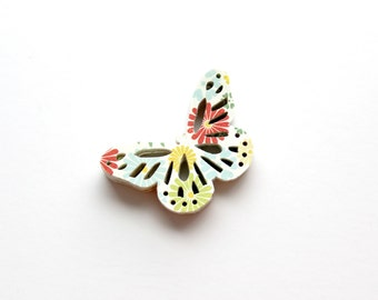 Colorful Floral Butterfly Die Cuts - Garden Flower Table Decor