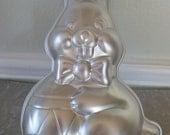 Vintage Aluminum Bunny Cake Mold by Wilton 1984