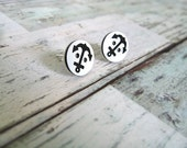 Earrings - Nautical Anchor Buttons