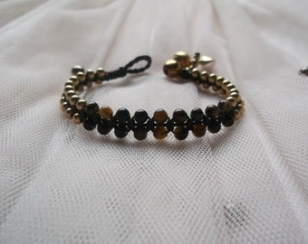 Tiger's eye Bracelet  REAL gold brass beadsThailand Handmade Jewelry Autumn trends  by Nannapatt