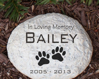 Engraved Pet Memorial Garden Stone, pet, memorial, garden stone, memorial garden stone, cremated, keepsake, memorial, engraved -gfyL553714N