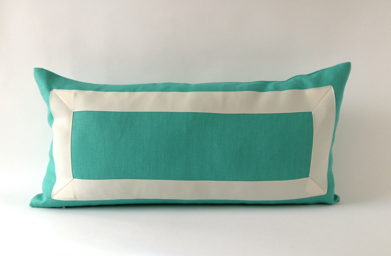 Decorative bolster Pillow Cover -Mint Green Linen Pillow Cover ...