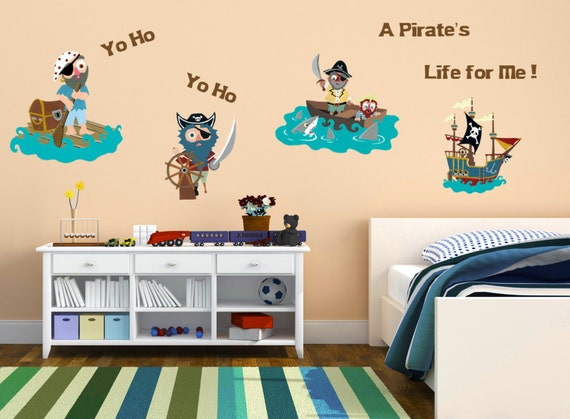 Items Similar To Pirate Wall Decals Kids Room Nursery