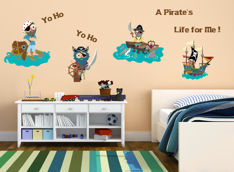 Pirate Wall Decals Kids Room Nursery Decor Vinyl By