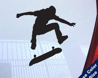 Skateboard Kickflip Decal - Skateboarding - for Laptop, Car, iPhone
