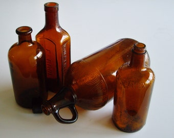 Vintage Glass, Bottle Collection, Amber, Brown Bottles, Brown Glass, White Magic, Cod Liver Oil, Javex, Apothecary, Instant Collection