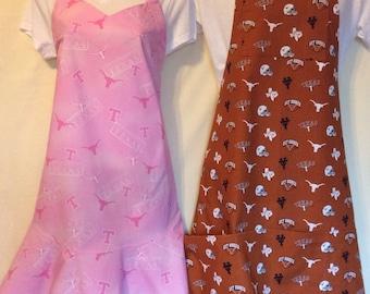 His and Hers handmade University of Texas Longhorn aprons