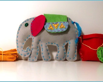 Kasi the Elephant Pattern