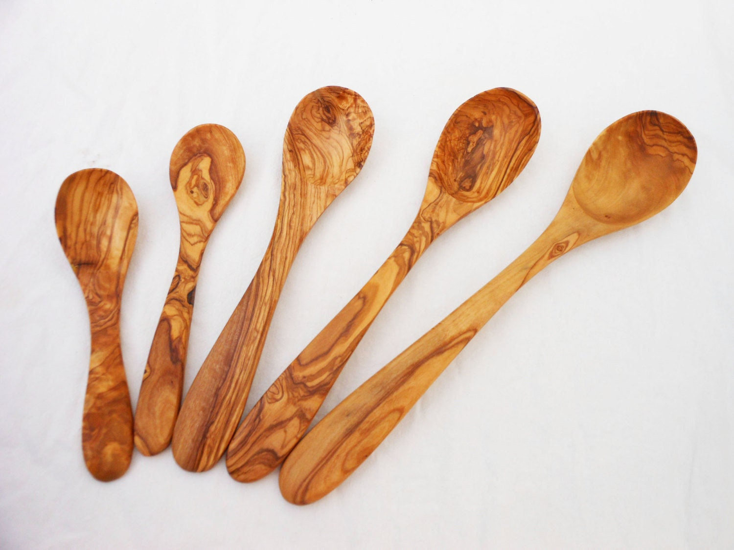 Olive Wood spoon set / Wooden spoons / Kitchen Cooking