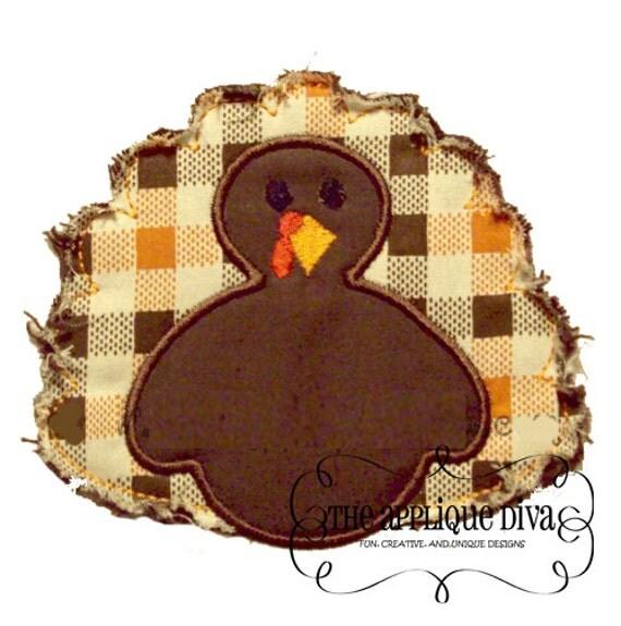 Thanksgiving Simple Turkey Digital Embroidery Design Machine Applique