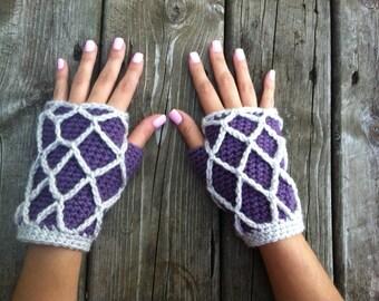 Crochet Fishnet Gloves (Pattern)